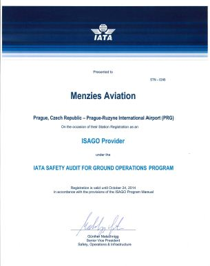 ISAGO certificate